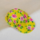 "Cap for dolls ""Flowers"" yellow"