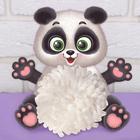 """Пушистая игрушка из помпона """"Панда"""""""
