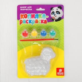 "Painted PVC action figures-piggy ""Lamb"" + 4 colors of 2 grams, brush"