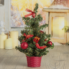 Tree decor table 25*15 cm balls red