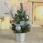 Tree table decor 20*13.5 cm bow silver