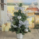 Tree decor table Butterfly 30*18 cm silver