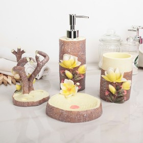 "Set of bathroom accessories, 4 piece ""Greenhouse"""