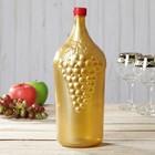 """Бутылка 2 л """"Винная. Виноград"""", цвет бронза"""