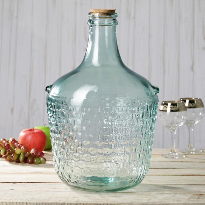 Бутылка стеклянная 12 л Garrafa colonial, с пробкой