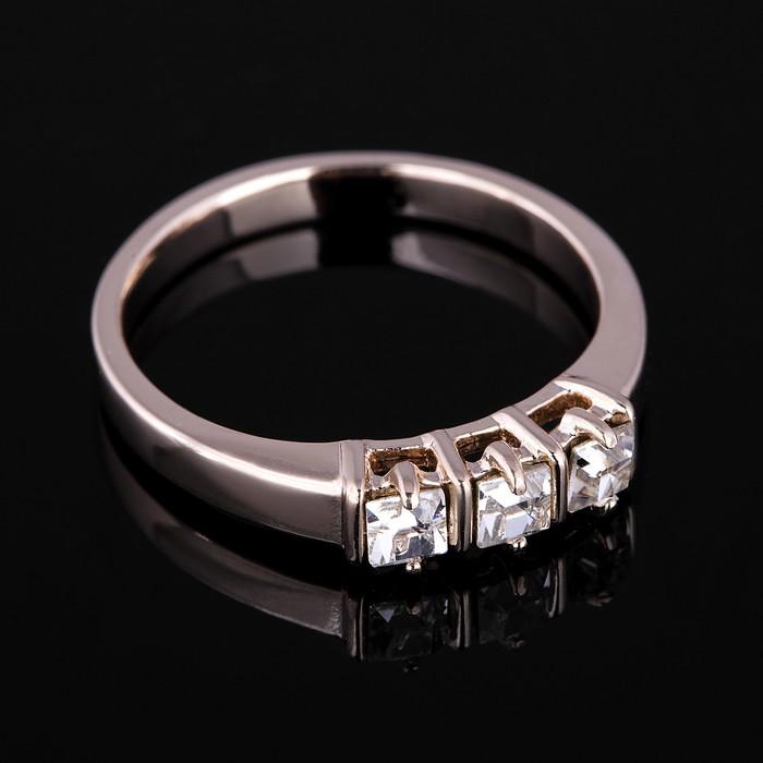 """Кольцо """"Па-де-де"""", размер 16, цвет белый в золоте"""