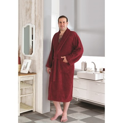 Халат махровый Smart, размер 4XL (54), цвет бордовый, 420 г/м2