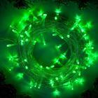 """Гирлянда """"Нить"""", 10 м, LED-100-220V, 8 режимов, нить прозрачная, свечение зелёное"""