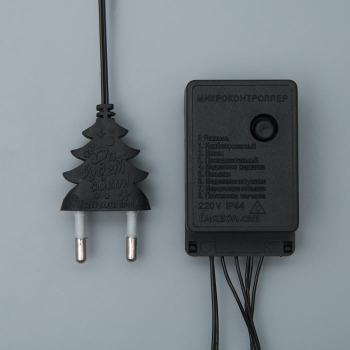 НИТЬ, 10 м, Н.Т. LED-100-220V, 8 режимов, Т/БЕЛЫЙ