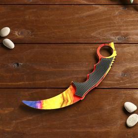 Сувенирное оружие из дерева «Керамбит, мраморный градиент»