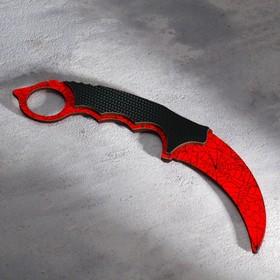 Сувенирное оружие из дерева «Керамбит, паутина»