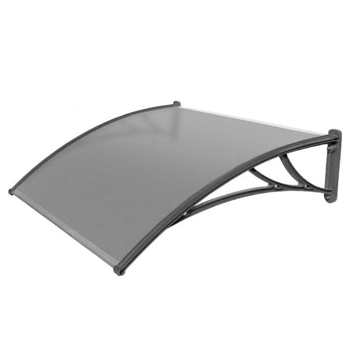 Защитный козырёк для крыльца 1500 КЧ-ПП прозрачный, с поликарбонатом