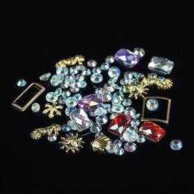 Assorted decorations for nail art: sequins, metal decoration, MIX color
