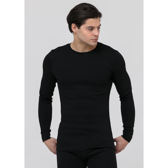 """Джемпер мужской """"Термо"""" PMF-004 цвет чёрный, размер 48"""