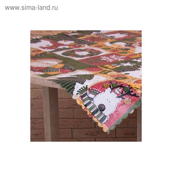 Скатерть НГ Новогодняя сказка, размер 75х75 см, 100% полиэстр