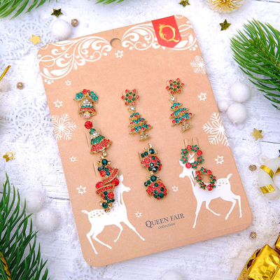 """Brooch """"Christmas tale"""" form MIX, MIX color"""