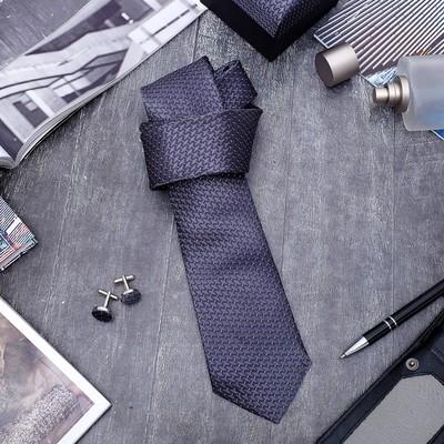 """Набор мужской """"Стиль"""" галстук 145*5см, запонки, ромб, цвет серо-серебристый"""