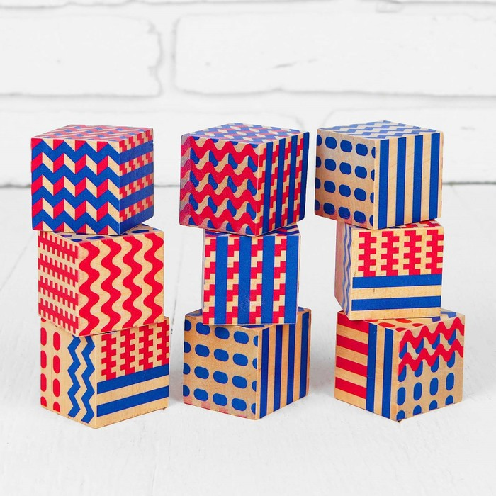 "Кубики ""Абстракция"" размер куба: 4 × 4 × 4 см"
