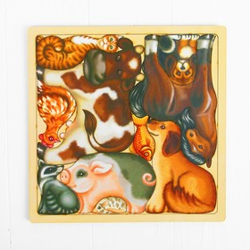 Развивающий пазл-головоломка «Домашние животные», вид упаковки: термоусадочная плёнка