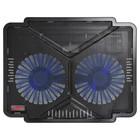 """Подставка для ноутбука Buro BU-LCP140-B214 14"""" 1xUSB 2x 140ммFAN черная"""