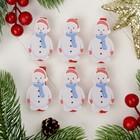 """Прищепки новогодние """"Снеговик"""", набор 6 шт."""