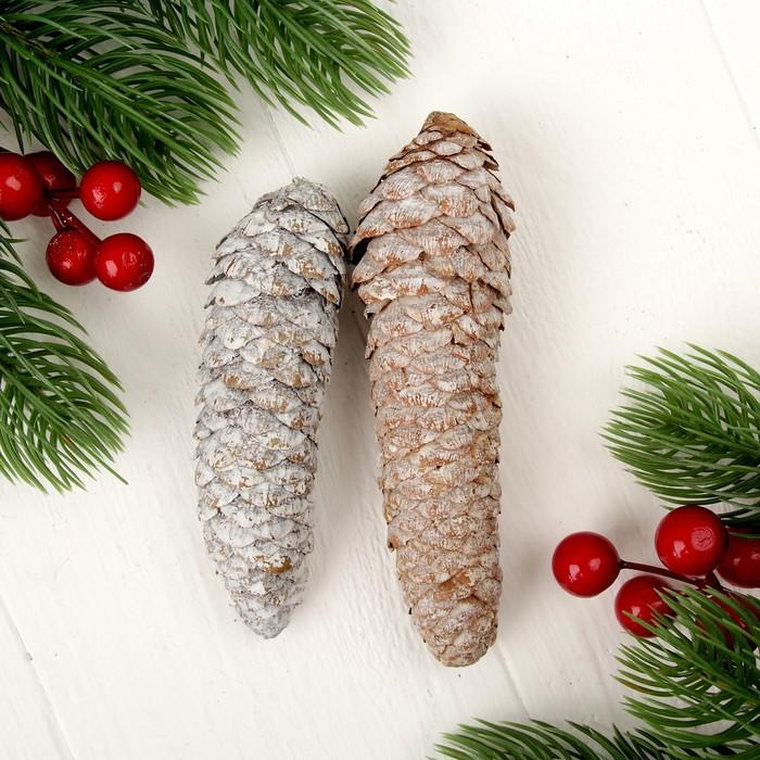 Набор новогодннего декора «Шишки», 2 шт. - фото 417536