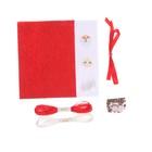 """Новогодние игрушки из фетра """"Дед мороз и Снегурочка"""""""