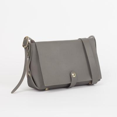 Bag, Department, zipper, adjustable strap, color gray