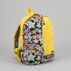 Рюкзак молодёжный, отдел на молнии, 2 наружных кармана, цвет жёлтый