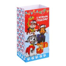 """Пакет подарочный без ручек «С Новым Годом!"""", PAW PATROL, 10 х 19,5 х 7 см"""