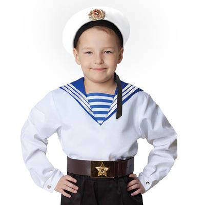 Морская рубашка «Фланка», детская, р. 30, рост 104-110 см, цвет белый