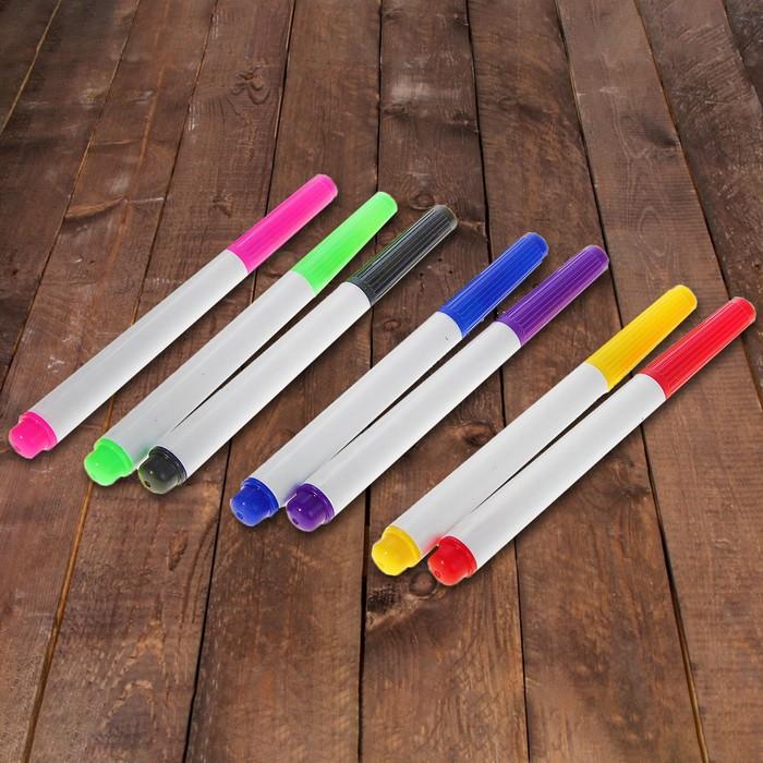 Маркер цветной на водной основе, набор 7 шт