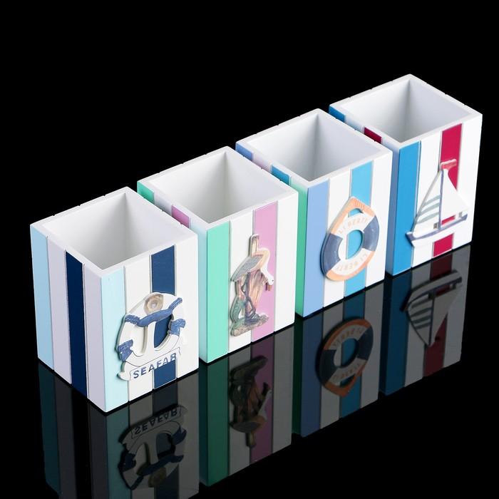 Органайзер настольный Liberty, в виде подставки, микс картинок, 7.5х8.5х12 см