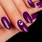 """Декоративный объёмный элемент для ногтей """"Круг с жемчугом"""", 0,7x0,5см, 2шт, цвет серебристый"""