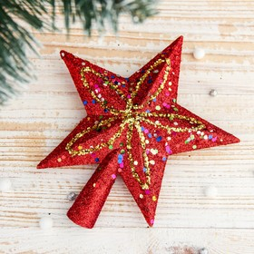 """The tip of the """"Star"""" spray Shine 13.5*14.5 cm, red"""