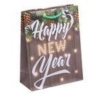 Пакет ламинированный вертикальный Happy New Year, 18 × 23 × 8 см