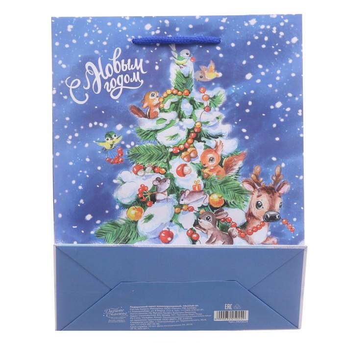 Пакет ламинированный вертикальный «Веселого Нового Года», 18 × 23 × 8 см