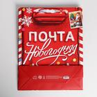 Пакет ламинированный вертикальный «Новогодняя почта», L 31 × 40 × 9 см