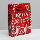 Пакет ламинированный вертикальный «Новогодняя почта», ML 23 × 27 × 8 см