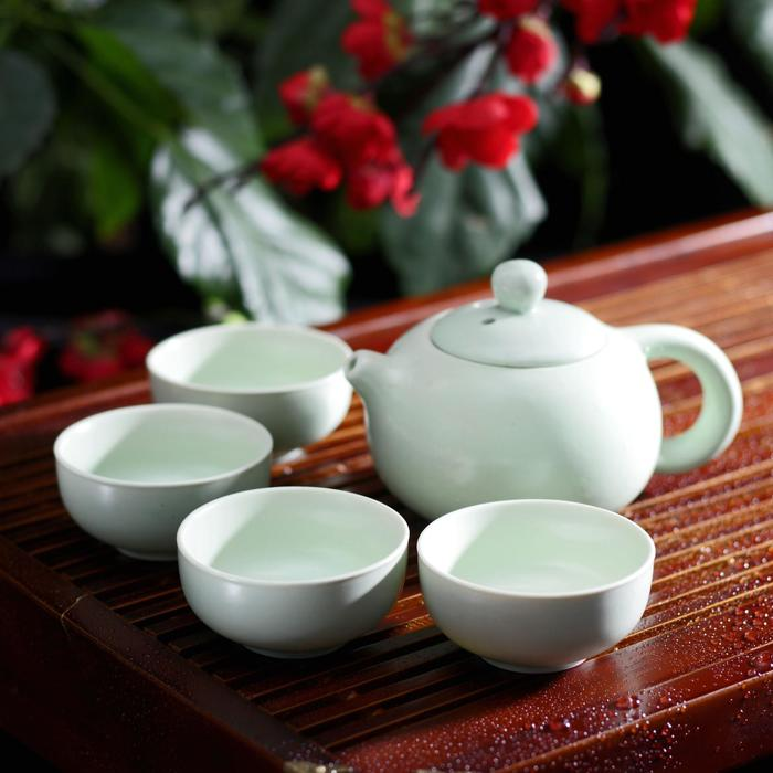 Набор для чайной церемонии «Небо», 5 предметов: чайник 200 мл, 4 чашки 50 мл - фото 308172176