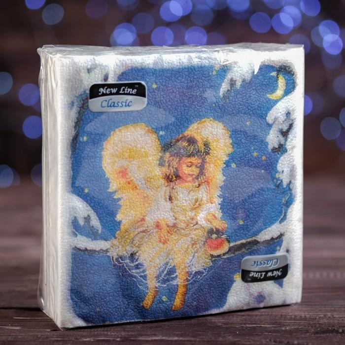 Новогодние салфетки бумажные Classic Рождественский ангел, 1 слой, 33*33 см, 50 листов