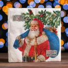 """Новогодние салфетки бумажные Fresco """"Дед Мороз"""", 2 слоя, 33*33 см, 20 листов"""