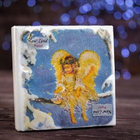 """Новогодние салфетки бумажные Fresco """"Рождественский Ангел"""", 2 слоя, 33*33 см, 20 листов"""