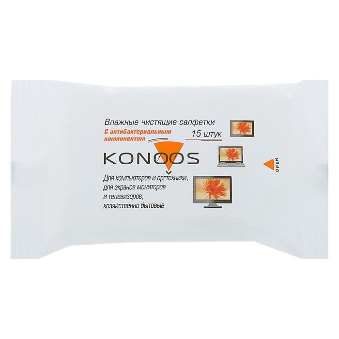 Салфетки для ЖК-экранов Konoos KSN-15 в мягкой пачке