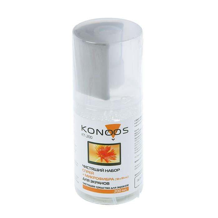 Набор Konoos KT-200 для ЖК-экранов (спрей 200 мл +салфетка)