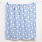 Одеяло лёгкое Крошка Я Лама 105*105 см, муслин шестислойный, 100% хлопок