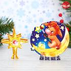 "3D Designer figurines ""Pigs and stars"""