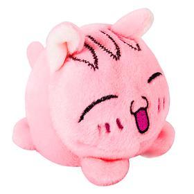 Мягкая игрушка «Мячик-кот», розовый, 7см