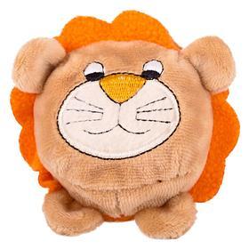 Мягкая игрушка «Мячик-лев», коричневый, 7см