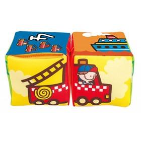 Кубики музыкальные «Совмести-ка транспорт», мягкие